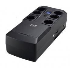 FSP/Fortron UPS NanoFit 800, 800 VA, 2xUSB power, LCD, RJ45, offline