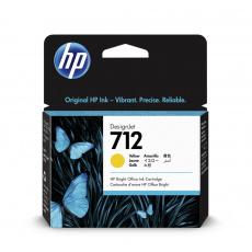 HP 712 Inkoustová náplň žlutá (29ml); 3ED69A