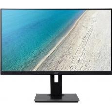 """27"""" LCD Acer B277U - IPS,WQHD,4ms,75Hz,350cd/m2, 100M:1,16:9,HDMI,DP,VGA,USB,repro.,pivot,výška."""