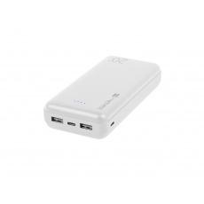 Natec Trevi Power bank 20 000mAh, bílý, Type-C, micro USB