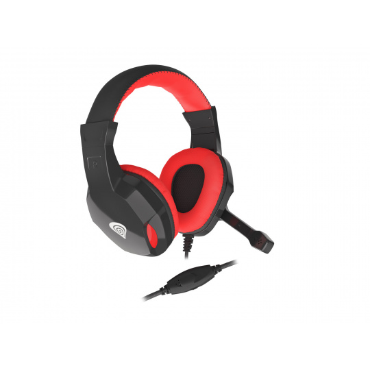 Herní stereo sluchátka Genesis Argon 110,černo-červené, 2x jack