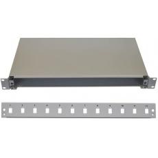 "19"" Optická vana 12xSC simplex včetně kazety šedá"