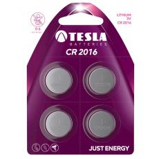 TESLA - baterie TESLA CR2016, 4ks, CR2016