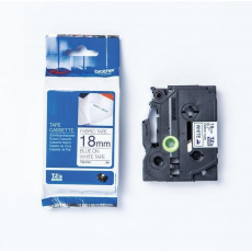TZE-FA4, bílá / modrá, 18 mm, zažehlovací páska