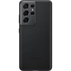 Samsung Kožený zadní kryt pro S21 Ultra Black