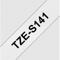 TZE-S141, průsvitná / černá, 18mm