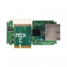 Turris MOX C, modul routeru Turris MOX, 4× LAN port 10/100/1000 Mbps (RJ-45), 1× 64 pin konektor pro připojení dalších modulů
