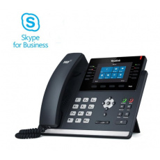 """Yealink T46S Skype for Business tel., PoE, 4,3"""" bar. LCD, 27 prog.tl., GigE"""