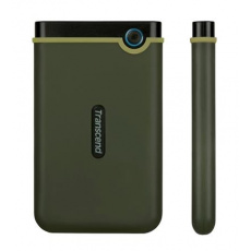 """Externí disk 2,5"""" 2TB Transcend StoreJet TS2TSJ25M3G, USB 3.0, armádní zelená/černý"""