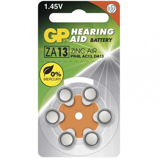 GP ZA13, 6ks, baterie do naslouchadla