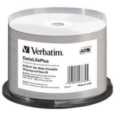 VERBATIM DVD-R (16xWide Waterproof,4,7GB),50cake