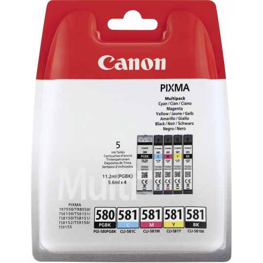Canon INK PGI-580/CLI-581 BK/CMYK MULTI BL SEC