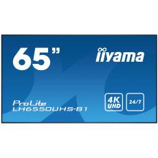 "65"" iiyama LH6550UHS-B1 - AMVA3,4K UHD,8ms,450cd/m2, 4000:1,16:9,komponent.,HDMI,DP,USB,RS232,repro."