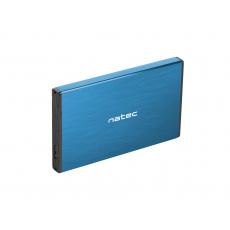 """Externí box pro HDD 2,5"""" USB 3.0 Natec Rhino Go, modrý, hliníkové tělo"""