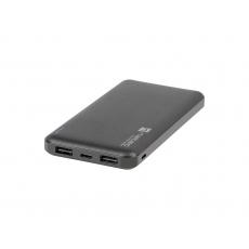 Natec Trevi Slim Power bank 10 000mAh, černý, Type-C, micro USB