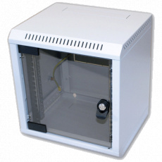 "10"" rack jednodílný 6U/260 TRITON šedý dveře sklo"