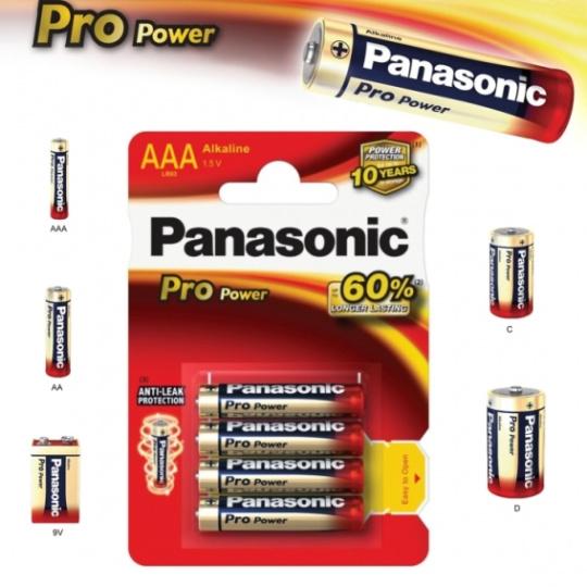 Panasonic LR03, AAA, Pro Power, 4ks, alkalická baterie