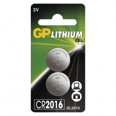GP CR2016, 2ks, lithiová baterie