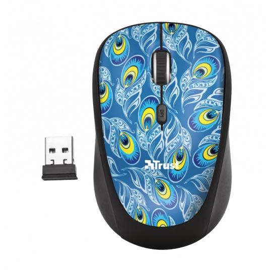 TRUST Yvi Wireless Mouse - Peacock