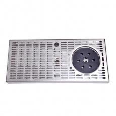 Odkapní miska nezapuštěná 400X180X30MM nerez + ostřik