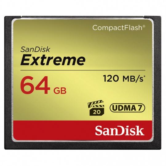 SanDisk Extreme CompactFlash 64GB 120MB/s