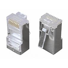 Konektor 8p8c CAT5E neskládaný,STP,licna (100ks)